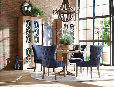 Parsons Chair - Tufted Indigo, , large