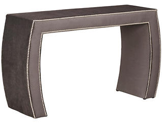 FUSE Aphrodite Charcoal Upholstered Vanity, , large