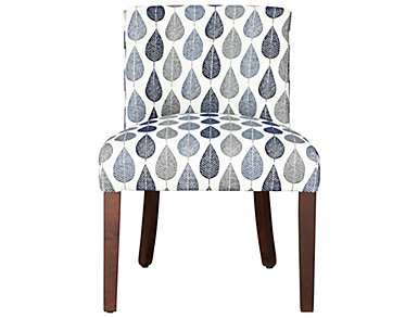 FUSE Audobon Navy Upholstered Desk Chair, , large