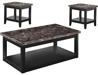 Braden 3 Pack Occasional Tables, Black, , large