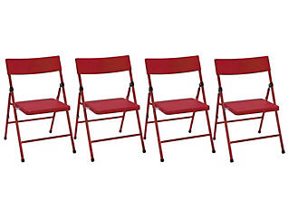 Red Folding Chair Set of 4, , large