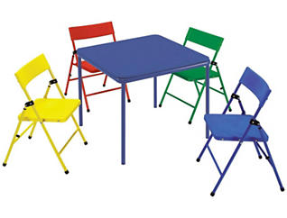 Kids 5 Piece Chair and Table Set, , large