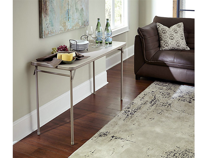 Cosco Beige Folding Table, , large