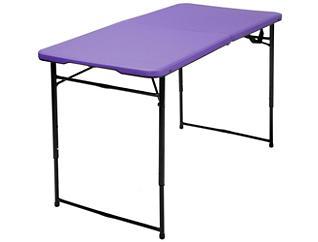 4ft Purple Tailgate Table, , large
