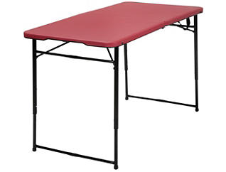 4ft Red Tailgate Table, , large