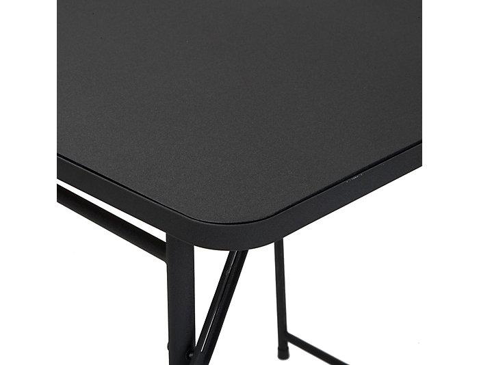 """34"""" Black Adjustable Table, , large"""