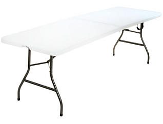 Deluxe White Folding Table, , large