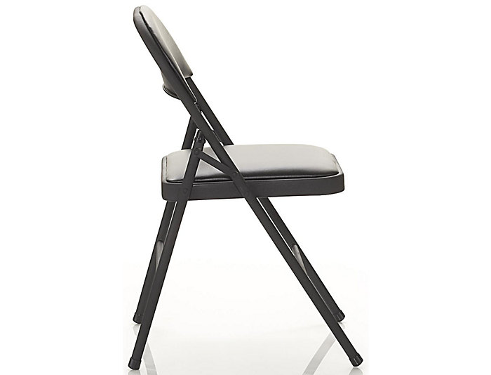 Black Folding Chair Set of 4, , large
