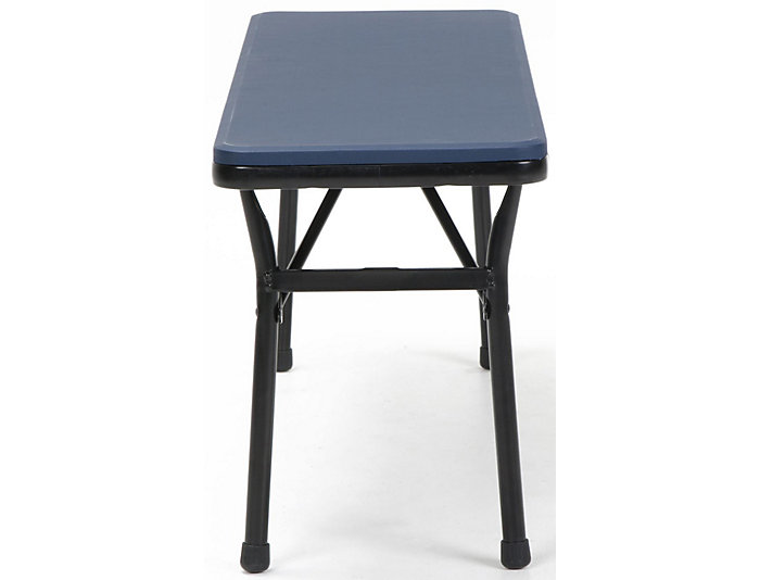 Blue 3 Piece Table and 2 Benches, , large