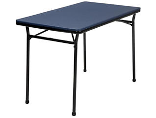 Blue 3PC Table and 2 Benches, , large