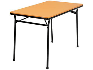 Orange 3PC Table and 2 Benches, , large