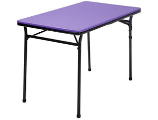 Purple 3PC Table and 2 Benches, , large