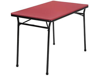 Red 3PC Table and 2 Benches, , large