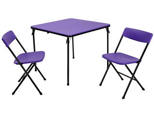 Purple 3 Piece Table and 2 Chairs, , large