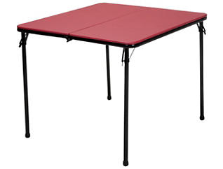 Red 3PC Table and 2 Chairs, , large