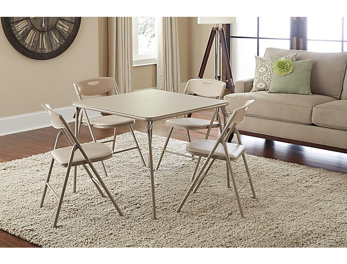 Linen 5 Piece Table and Chair Set, , large