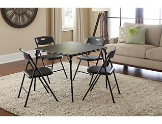 Black 5PC Table and Chair Set, , large