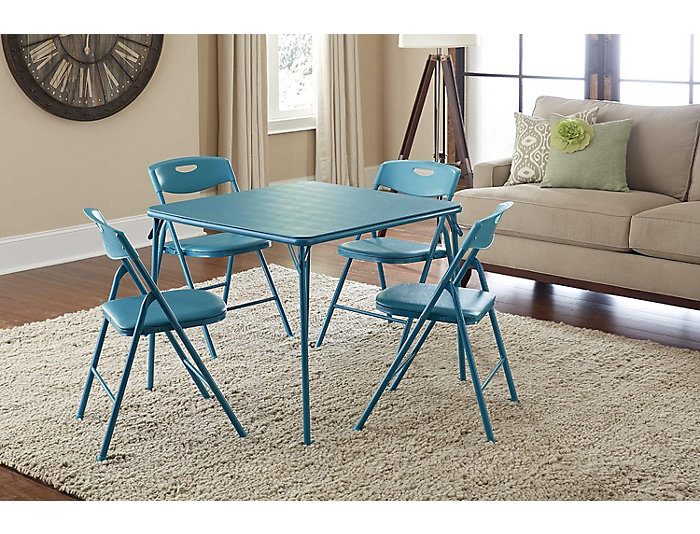 Teal 5PC Table and Chair Set, , large