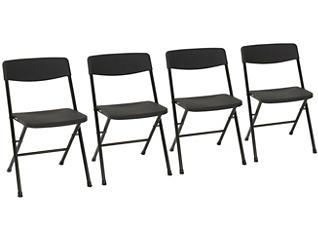 Black Folding Chair Set of 4, , large