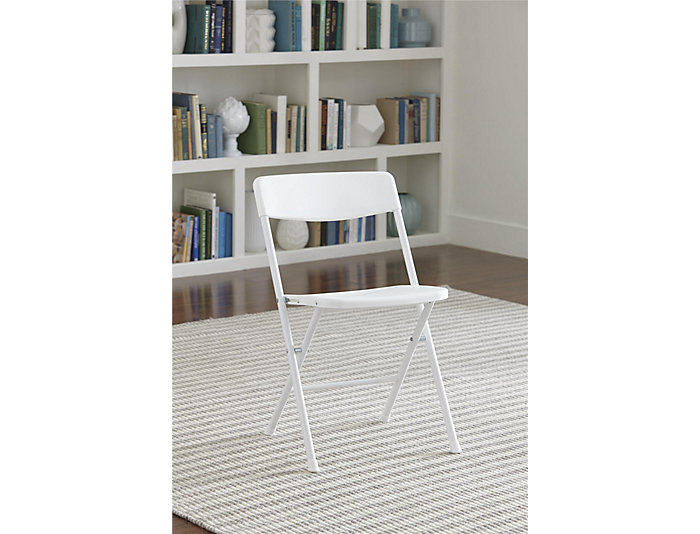 White Folding Chair Set of 4, , large