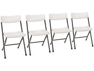 Pewter Folding Chair Set of 4, , large