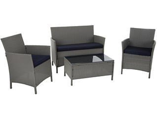 Vernal 4 piece Grey Seating Set, Grey, , large