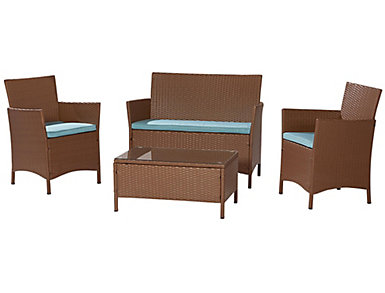 Vernal 4 Piece Tan Seating Set, , large