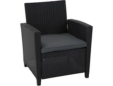 Lindon 4 Piece Black Seating Set, , large