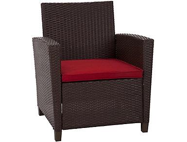 Lindon 4 Piece Brown Seating Set, , large