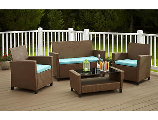 Lindon 4 Piece Tan Seating Set, , large