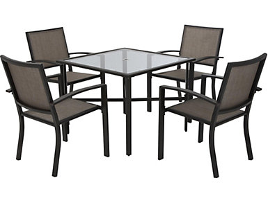 Payson 5 piece Dining Set, Brown, , large