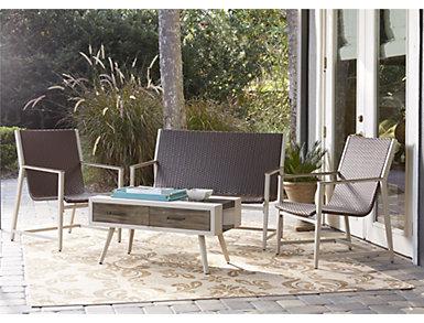 Tremonton 4 piece Seating Set, Brown, , large