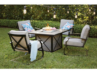 Sonoma 5 Piece Firepit Set, , large