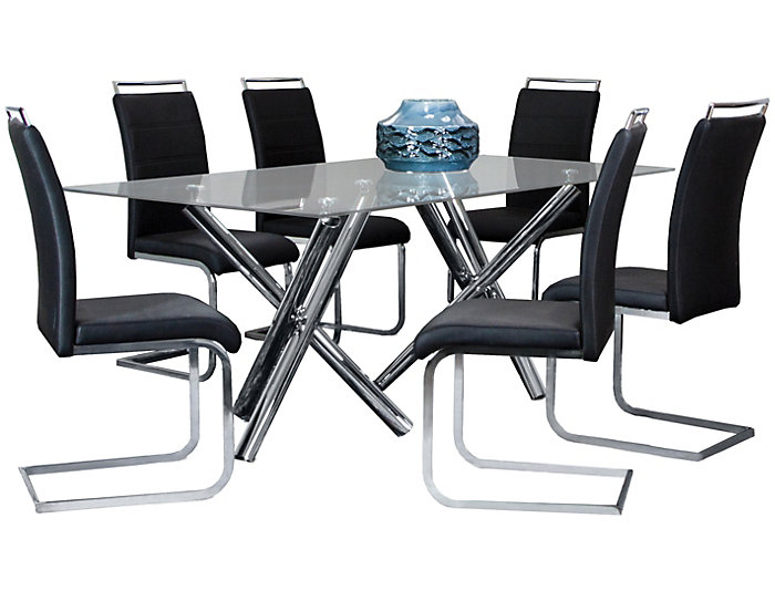 ... Mantis 7pc Dining Set, Table And 6 Chairs., , Large ...