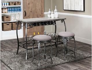 Sprite Oak Bar with Stools, , large