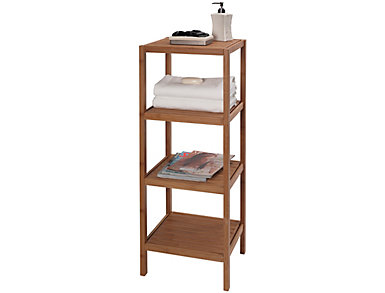 Eco Bamboo 4 Shelf Tower, , large