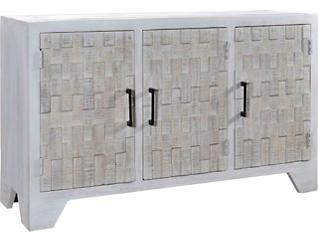 White Stone 3-Door Sideboard, , large
