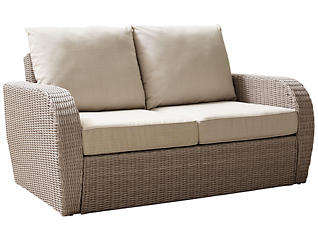 Cocoa Beach Beige Loveseat, , large