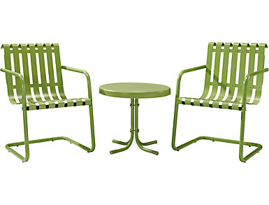 Gracie 3pc Green Chat Set, , large