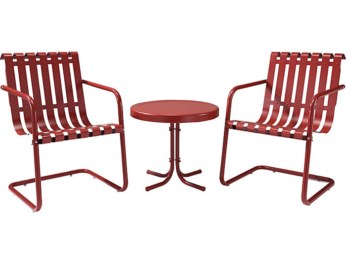 Gracie 3pc Red Chat Set, , large