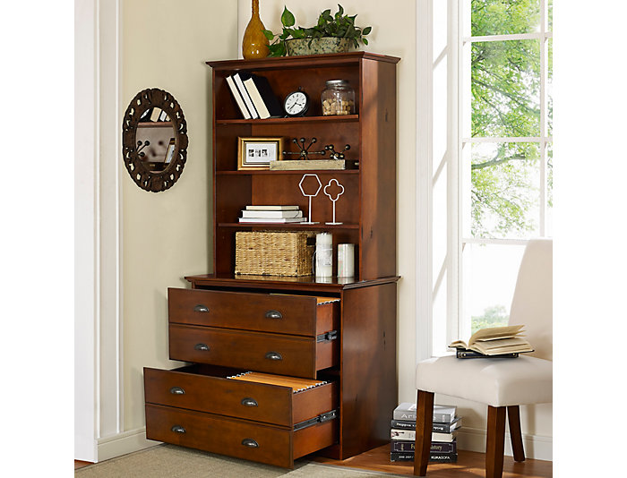 Hardin File Cabinet w/ Hutch, , large