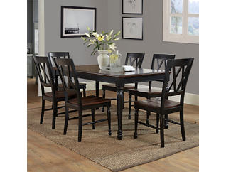 Shelby 7PC Black Dining Set, , large