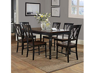 Shelby 7PC Black Dining Set