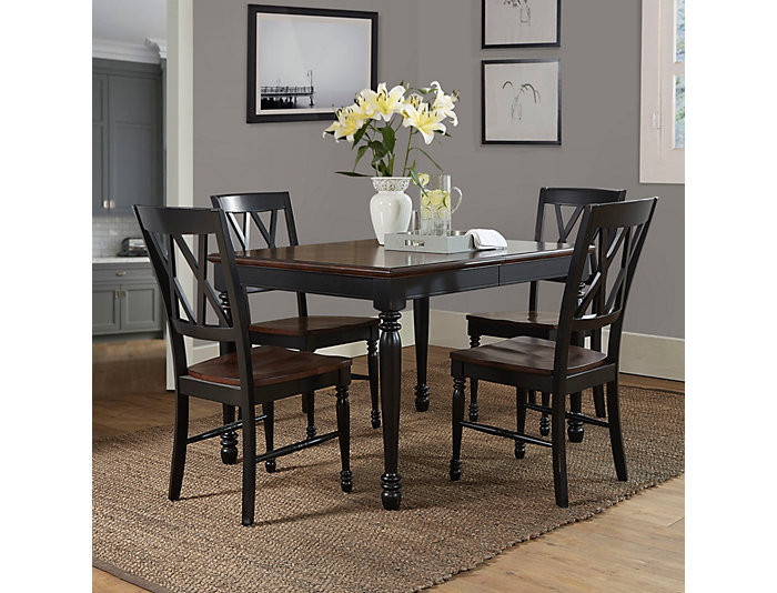 Shelby 5PC Black Dining Set, , large