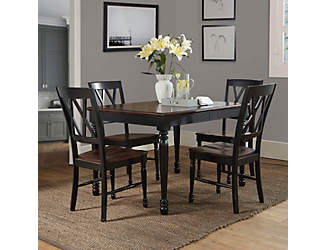 Shelby 5PC Black Dining Set