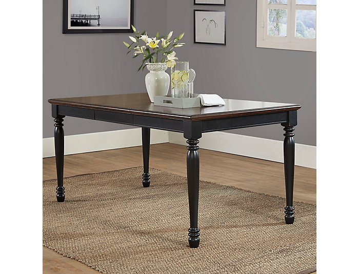 """Shelby Black Table w/ 18"""" Leaf, , large"""