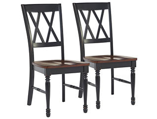 Shelby Black Chair Set of 2, , large