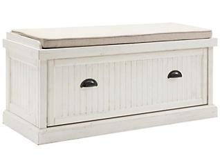 Radcliff White Storage Bench, , large