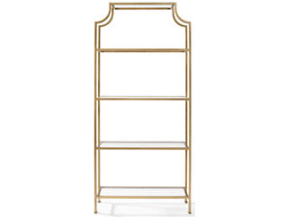 Florence Wide Antique Gold Etagere, , large
