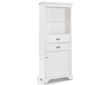Clinton White Bath Cabinet, , large